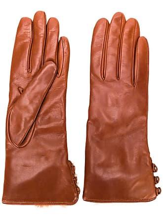 Gala Gloves buttoned cuff gloves - Marrom