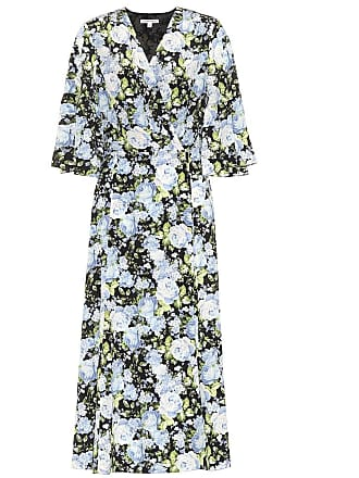 Les Rêveries Floral silk wrap dress