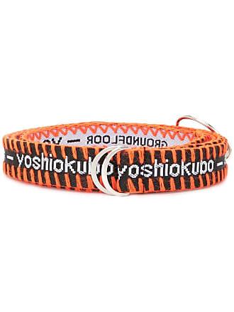 Yoshiokubo D-ring logo belt - Black