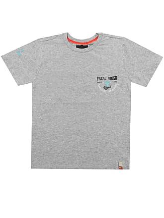 Fatal Surf Camiseta Fatal Menino Posterior Cinza