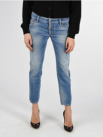 Dsquared2 Stonewashed Jeans MEDIUM WAIST CROPPED TWIGGY 14 cm Größe 44
