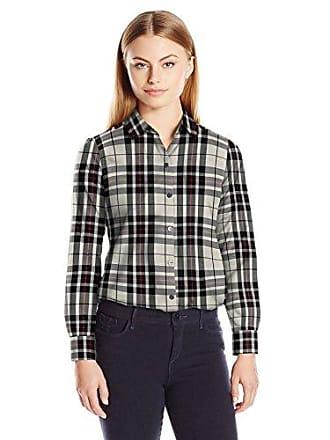 e50cef70649 Foxcroft Womens Petite Size Long Sleeve Holiday Tartan Shirt, Winter White,  6