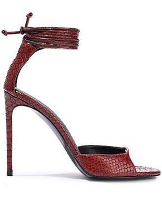 bf9571f3d46 Stella McCartney Stella Mccartney Woman Snake-effect Faux Leather Sandals  Burgundy Size 36.5