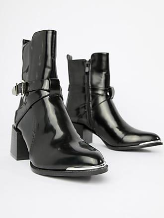 28dae99c8a36c9 Raid RAID - Poppy - Schwarze Ankle-Boots im Western-Stil
