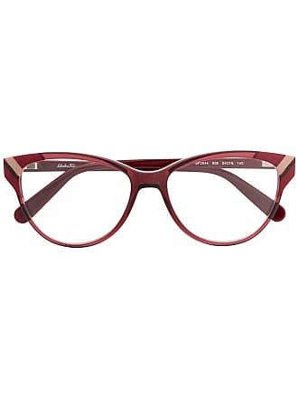Salvatore Ferragamo Armação de óculos gatinho - Vermelho
