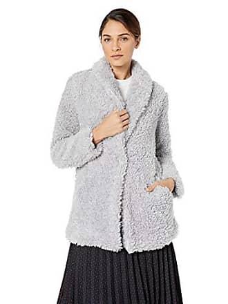 Ellen Tracy Womens Shawl Collared Jacket, Smoke XL