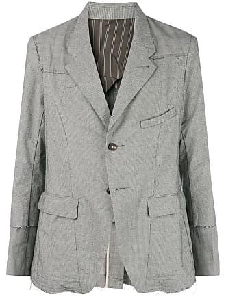 Ziggy Chen patchwork blazer - Grey