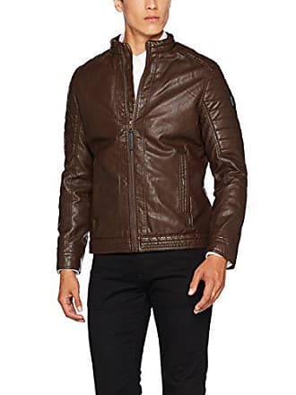 Tom Tailor Men's Fake Leder Jack, Vegane Lederjacke Jacket