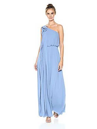 0e28d7a52a65 Bcbgmaxazria BCBGMax Azria Womens Joyce One Shoulder Ruched Knit Gown,  Light Vintage Blue, M