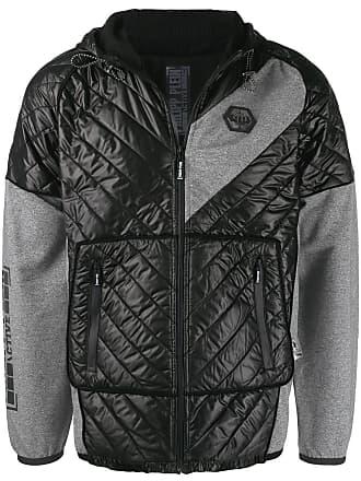 Philipp Plein Geometric hooded jacket - Black