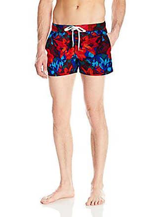 2b4b600992 2(x)ist Mens Ibiza Pattern Swim Trunk, Abstract Floral/Poppy,