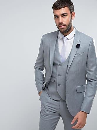 Asos ASOS - BRÖLLOP - Ljusgrå kostymjacka med smal passform i 100 %  merinoull - Ljusgrå 29e2686d36142