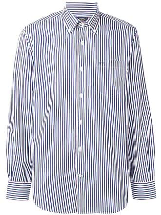 Paul & Shark Camisa listrada com botões - Azul