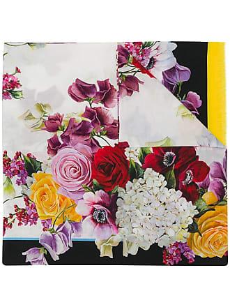 Dolce & Gabbana floral print scarf - Black