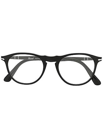 Persol Armação de óculos redonda - Preto