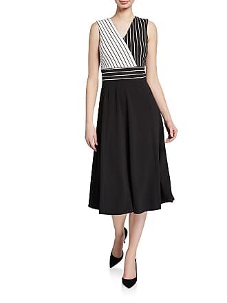 Iconic American Designer Stripe Surplus Midi Dress