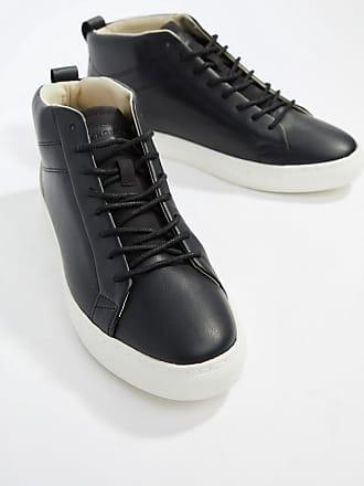 82f6f3b6cec Jack   Jones high top sneaker with contrast sole - Black