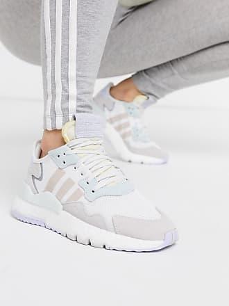 adidas Originals Nite - Jogginghose in Weiß und Eismintgrün