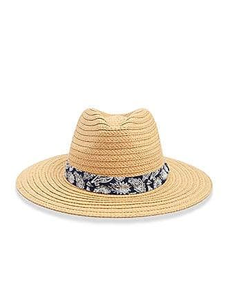 50f51c7e701d6f Forever 21 Forever 21 Paisley Trim Straw Fedora Hat, Natural/multi