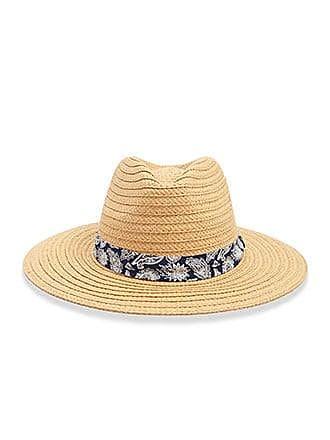 291b4e11 Forever 21 Forever 21 Paisley Trim Straw Fedora Hat, Natural/multi
