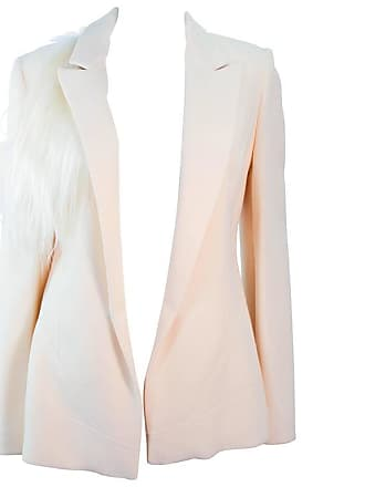 869f3591e510b 1stdibs Fausto Puglisi Vintage Silk Cream And White Goat Hair Blazer Size  46 Large