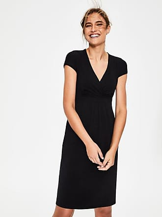 Boden Casual Jersey Dress Black Women Boden