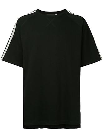 Off Duty Camiseta com listras nas mangas - Preto