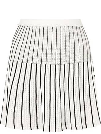 301c07ae9aa Sonia Rykiel Striped Ribbed-knit Cotton-blend Mini Skirt - White