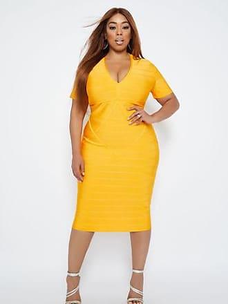 96f4bec943e Ashley Stewart Plus Size Short Sleeve V Neck Bandage Dress