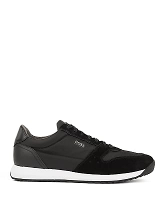 BOSS Running-inspired sneakers with technical bamboo-charcoal lining