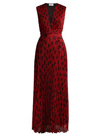 Raquel Diniz Mika Floral Print Pleated Dress - Womens - Red Multi