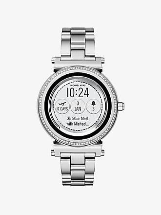 Michael Kors Sofie Pave Silver-Tone Smartwatch