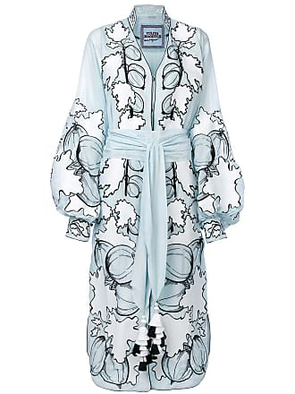 Yuliya Magdych Gooseberry embroidered dress - Blue