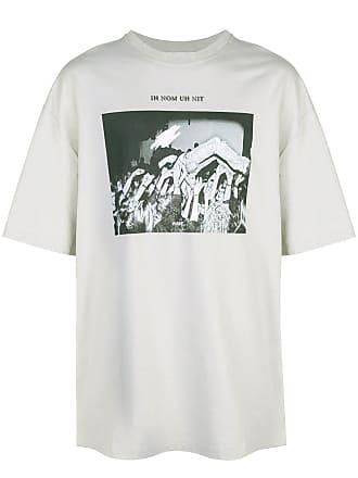 Ih Nom Uh Nit Camiseta com estampa fotográfica - Cinza