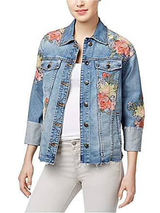 Joe's Womens Belize Embroidered Cuffed Denim Jacket in Sasha, M