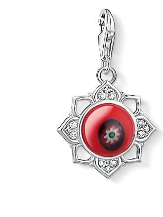 b66d3ee6b4d9 Thomas Sabo Thomas Sabo colgante Charm flor de loto roja en vidrio rojo  1441-052