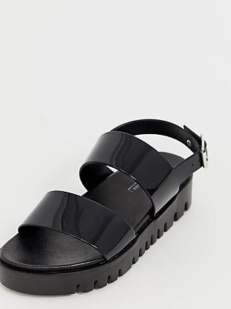 5cf8bba79 Asos Wide Fit Fadey chunky jelly flat sandals - Black