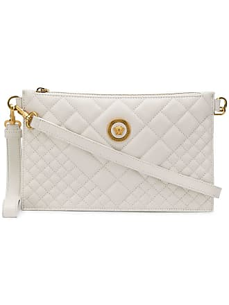 c46446003331 Versace quilted Medusa clutch bag - White