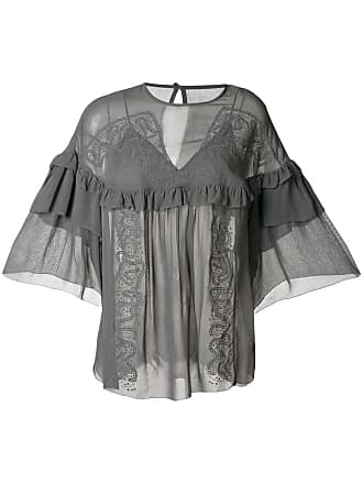 f041684955a92 Iro ruffle-detail draped blouse - Grey