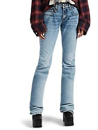 R13 Womens Ruched Boy Boot Jeans - Blue Size 28