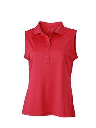 fd69e827bb James & Nicholson Polo Ladies Active Sleeveless, Maternité Femme, Rose  (Pink),