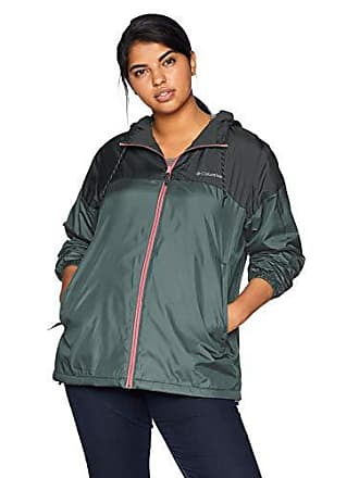e51f7aa74 Columbia Womens Plus Size Flash Forward Lined Windbreaker, Graphite/Shark,  1X