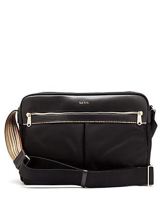 Paul Smith Signature Stripe Trimmed Messenger Bag - Mens - Black 195ee17d9b63d