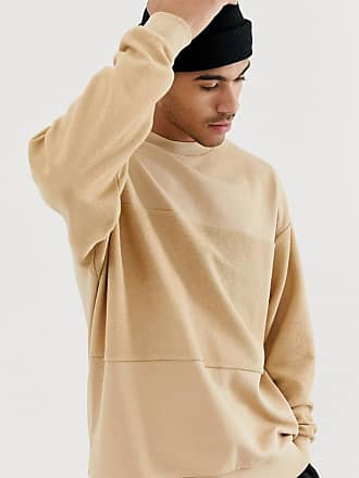 Asos oversized sweatshirt with reverse panel in beige - Beige