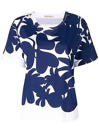 Marni floral short-sleeve T-shirt - Blue