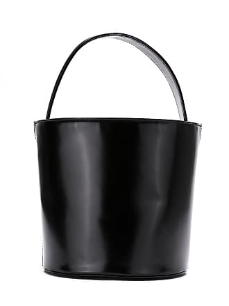 Sarah Chofakian Bolsa bucket de couro - Preto