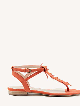 Sole Society Womens Mara T Strap Flat Sandals Creamsicle Size 10 Suede From Sole Society