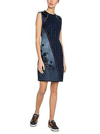 Desigual Vest Achille, Robe Femme, Bleu (Denim Dark Blue 5008), 40 4dd4fc303c64