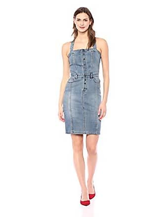William Rast Womens Serena Cross Strap Denim Dress, up Indigo, Small