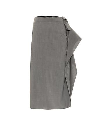 Rochas Stretch wool midi skirt